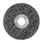 3M Scotch-Brite CS-UW Unitized Silicon Carbide Medium Deburring Wheel - Very Coarse Grade - Arbor Attachment - 4 in Diameter - 3/8 in Center Hole - 1/2 in Thickness - 01017