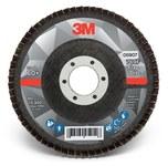 3M 769F Coated Type 29 Aluminum Oxide/Ceramic PSG Purple Flap Disc - 60+ Grit - Medium - 4 1/2 in Diameter - 7/8 in Center Hole - 05907