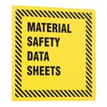 Brady Prinzing Black on Yellow MSDS & GHS Data Sheet Binder - MATERIAL SAFETY DATA SHEETS - English - 754473-43589