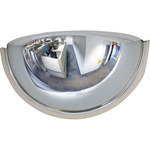 Brady Indoor/Outdoor Plastic Half Dome Safety Mirror 86342 - 18 in Overall Diameter - 754476-86342
