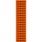 Brady 44359 Black on Orange Rectangle Vinyl Cloth Conduit / Voltage Marker - 2 1/4 in Width - 1/2 in Height - B-498