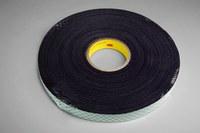 3M 4052 Black Double Coated Foam Tape - 3/4 in Width x 72 yd Length - 1/32 in Thick - 14618