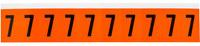 Brady 7890-7 Yellow on Black Vinyl Number Label - Indoor / Outdoor - 7/8 in Width - 1 1/2 in Height - 1 in Character Height - B-946