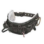 Miller 60NL Black Nylon Fixed Body Belt - Linemen Belt - 4 in Width - 40 to 50 in Waist Sizes - 612230-00070