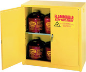 Eagle 30 gal Yellow Steel Hazardous Material Storage Cabinet - 43 in Width - 44 in Height - Floor Standing - 048441-33270