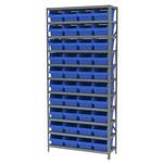 Akro-Mils Shelfmax 6500 lb Adjustable Blue Gray Steel 22 ga Open Adjustable Fixed Shelving System - 40 Bins - 6500 lb Total Capacity - AS1279080 BLUE