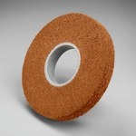 3M Scotch-Brite CP-WL Aluminum Oxide Medium Deburring Wheel - Medium Grade - Arbor Attachment - 8 in Diameter - 3 in Center Hole - 2 in Thickness - 03281