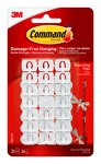 3M Command 17026-ES Plastic White Decorating Clips - 3/4 in Length x 1/2 in Width - 70523