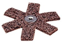 3M Scotch-Brite SR-ZA Non-Woven Aluminum Oxide Brown Sanding Star - 1 1/2 in Diameter - Coarse - 13370