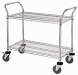 Quantum Storage 1200 lbs Gray Wire Utility Cart - 37 1/2 in Height - Four Swivel Casters - 04309