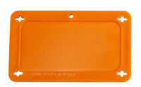 Brady 87694 Orange Rectangle Plastic Blank Valve Tag - 3 in Width - 1 1/2 in Height - B-418