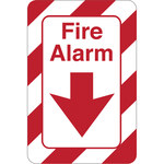 Shipping Supply Plastic Red/White Fire Safety Sign x 1/8 in Thickness