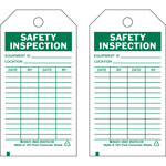 Brady 86556 Green on White Polyester General Inspection General Inspection Tag - 3 in Width - 5 3/4 in Height - B-851