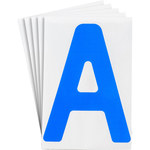 Brady Toughstripe 121695 Blue Polyester Letter Label - Indoor - 6 in Width - 8 in Height - 8 in Character Height - B-514