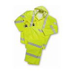 West Chester WW4033P Yellow XL Polyester/Polyurethane Rain Overalls - 662909-404206