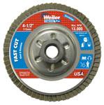 Weiler Vortec Pro Non-Woven Type 29 Zirconium Flap Disc - 80 Grit - Medium - 4 1/2 in Diameter - 5/8 in Center Hole - 31316