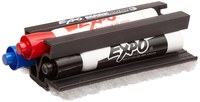 Brady Black / Blue / Red Dry Erase Marker & Eraser Set - 112632
