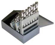 Cleveland 2120 Reduced Shank Drill Set - Radial 118° Point - Spiral Flute - Right Hand Cut - High-Speed Steel - C00980