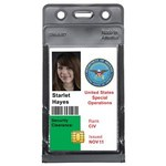 Menda Clear / Black Vertical Badge Holder - 3 1/2 in Overall Length - 2 1/4 in Width - MENDA 35008