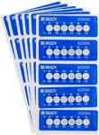 Brady TIL-6-37C/100F White on Blue Polyester Temperature Indicator Label - 2.205 in Width - 0.787 in Height - +100 F - B-7511