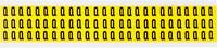Brady 34 Series 3410-Q Black on Yellow Vinyl Cloth Letter Label - Indoor - 11/32 in Width - 1/2 in Height - 3/8 in Character Height - B-498