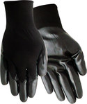 Red Steer A369B Black Large Nylon Work Gloves - Nitrile Palm Only Coating - A369B-L