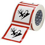 Brady 121210 White / Black / Red Diamond Polyester Chemical Hazard Label - 4 in Width - 4 in Height - B-7541