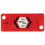 Red 100G Resettable Drop-N-Tell Indicators - 7/8 in x 2 in x 1/4 in - SHP-8356