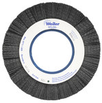 Weiler Ceramic Wheel Brush 0.043 in Bristle Diameter 120 Grit - Arbor Attachment - 8 in Outside Diameter - 3 1/4 in Center Hole Size - 83394