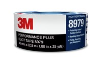 3M 8979N Blue Duct Tape - 96 mm Width x 54.8 m Length - 12.1 mil Thick - 58325