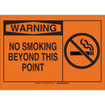 Brady B-401 Polystyrene Rectangle Orange No Smoking Sign - 10 in Width x 7 in Height - 21794