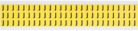Brady 34 Series 3410-J Black on Yellow Vinyl Cloth Letter Label - Indoor - 11/32 in Width - 1/2 in Height - 3/8 in Character Height - B-498