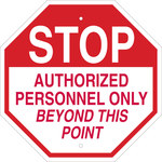 Brady B-555 Aluminum Octagon White Restricted Area Sign - 18 in Width x 18 in Height - 124530