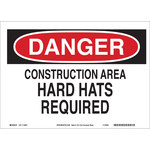 Brady B-586 Paper Rectangle White Construction Site Sign - 14 in Width x 10 in Height - 116002