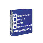 Brady White on Blue MSDS & GHS Data Sheet Binder - OCCUPATIONAL SAFETY & HEALTH ADMINISTRATION INFORMATION - English - 754476-45334