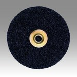 3M Scotch-Brite SL-DN Non-Woven Aluminum Oxide Black Quick Change Disc - Coarse - 5 in Diameter - 60287