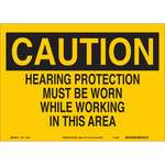 Brady B-586 Paper Rectangle Yellow PPE Sign - 14 in Width x 10 in Height - 116042