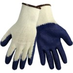 Global Glove S966 Blue Knit Work Glove - Latex Palm Only Coating - S966-T
