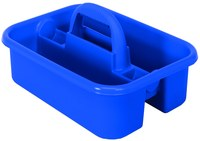 Quantum Storage Heavy-Duty Blue Tub Caddy - 13 7/8 in Overall Length - 18 3/8 in Width - 9 in Height - 04571
