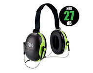 3M Peltor X Series X4B Black/Lime Behind Neck Polyurethane Protective Earmuffs - 27 Decibel NRR