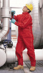 Ansell Gore 66-667 Red Large CPC Polyester Chemical-Resistant Coveralls - Fits 54 in Chest - 31 in Inseam - 076490-66419