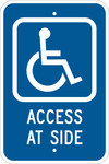 Brady B-959 Aluminum Rectangle Blue Disabled Parking & Building Access Sign - 12 in Width x 18 in Height - 113313
