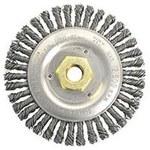 Weiler Dually Stainless Steel Wheel Brush 0.020 in Bristle Diameter - 4 1/2 in Outside Diameter - 5/8 in - 11 UNC Center Hole Size - 79811
