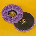 3M Scotch-Brite CX-DN Silicon Carbide Deburring Disc - Very Coarse Grade - Threaded Arbor Attachment - 4 1/2 in Diameter - 33194