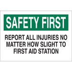 Brady B-401 Polystyrene Rectangle White Accident Notice Sign - 10 in Width x 7 in Height - 22652