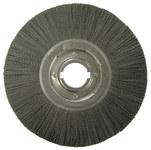 Weiler Ceramic Wheel Brush 0.043 in Bristle Diameter 120 Grit - Arbor Attachment - 12 in Outside Diameter - 2 in Center Hole Size - 86133