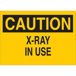Brady B-555 Aluminum Rectangle Yellow Radiation Hazard Sign - 14 in Width x 10 in Height - 67992