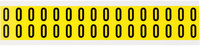Brady 34 Series 3420-0 Black on Yellow Vinyl Cloth Number Label - Indoor - 9/16 in Width - 3/4 in Height - 5/8 in Character Height - B-498