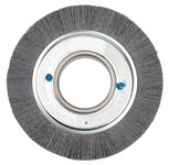 Weiler Silicon Carbide Wheel Brush 0.035 in Bristle Diameter 180 Grit - Arbor Attachment - 6 in Outside Diameter - 2 in Center Hole Size - 83030