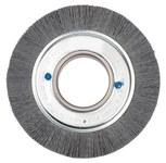 Weiler Silicon Carbide Wheel Brush 0.04 in Bristle Diameter 80 Grit - Arbor Attachment - 6 in Outside Diameter - 2 in Center Hole Size - 83050